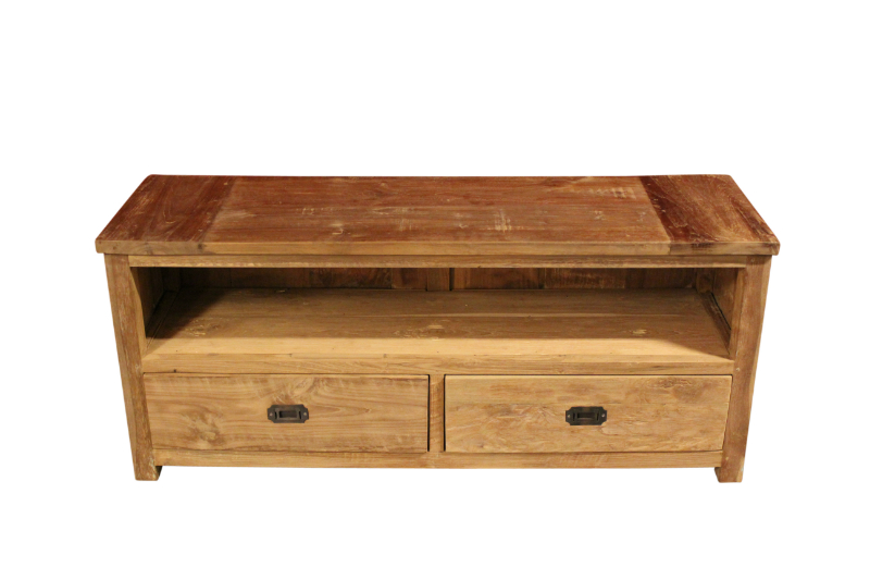 Koloniaal Eiken Tv Kast.Tv Dressoir Oud Teak Laag Colonial Warehouse