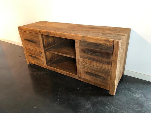 Teak Kast Tv.Tv Kast Recycled Teak 4 Lades 6069 Colonial Warehouse
